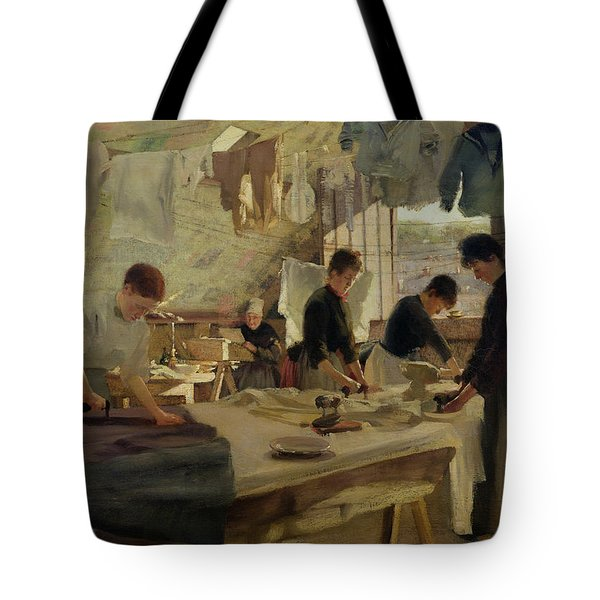 Ironing Workshop In Trouville Tote Bag by Louis Joseph Anthonissen