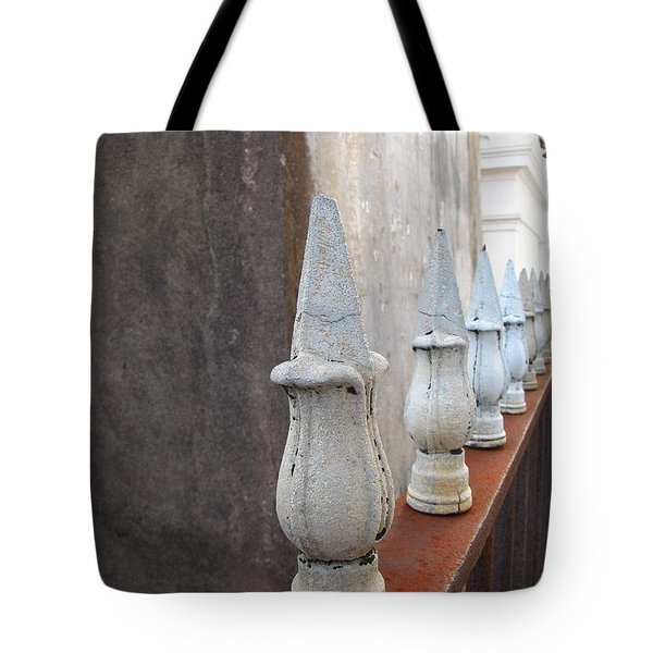 Tote Bag featuring the photograph Ironwork by Beth Vincent
