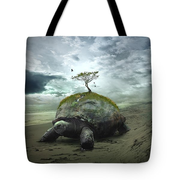 Iroquois Creation Story Tote Bag by Rick Mosher