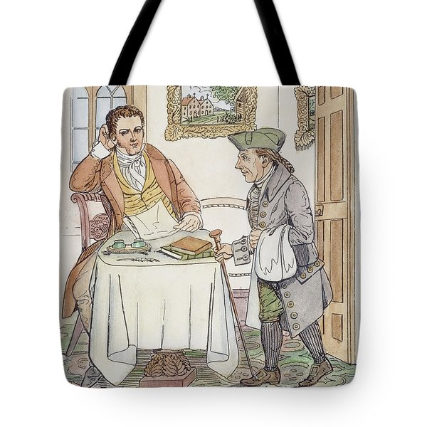 Tote Bag featuring the painting Irving & Knickerbocker by Granger