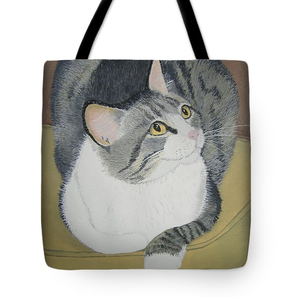 Tote Bag featuring the painting Is Dinner Ready by Norm Starks