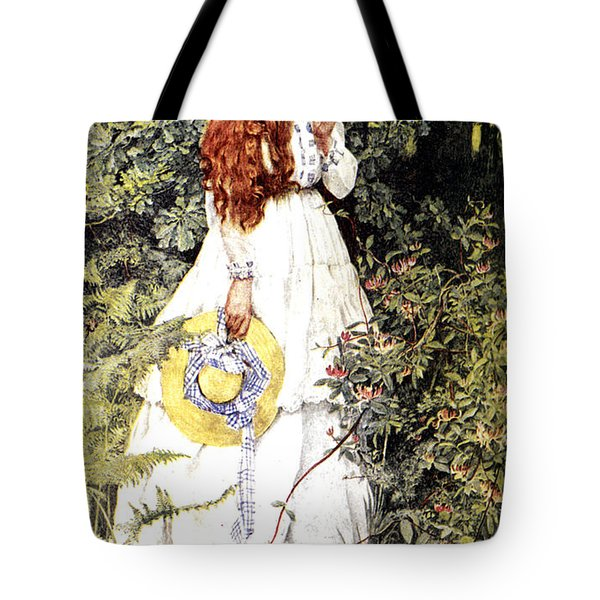 Is She Not Pure Gold My Mistress Tote Bag by Eleanor Fortescue Brickdale