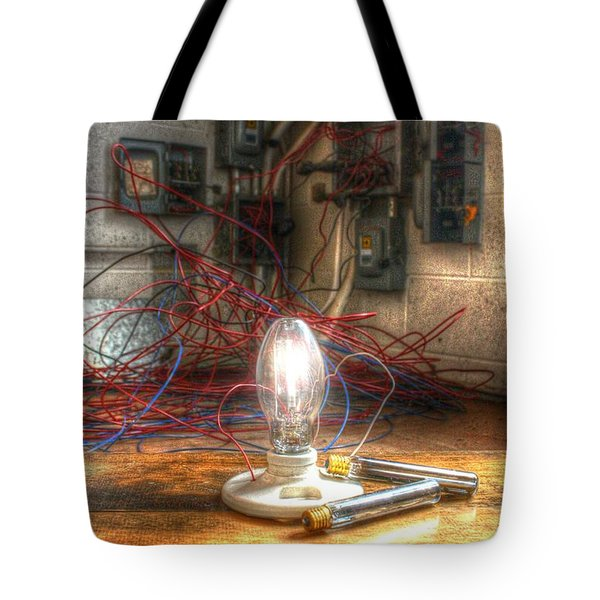 Is This Right Mr. Edison? Tote Bag by Dan Stone