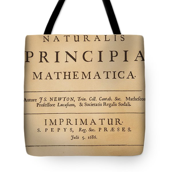 Isaac Newton Title-page Tote Bag