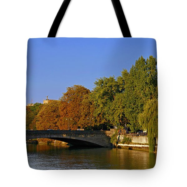 Isar River - Munich - Bavaria Tote Bag by Christine Till