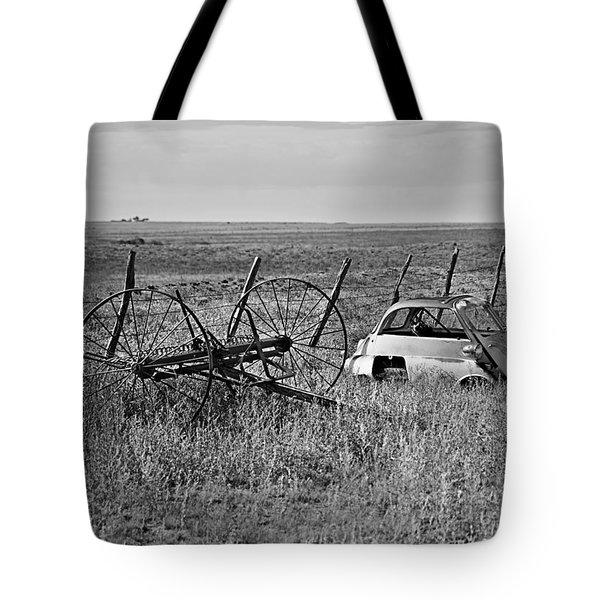 Isetta And Hay Rake Tote Bag