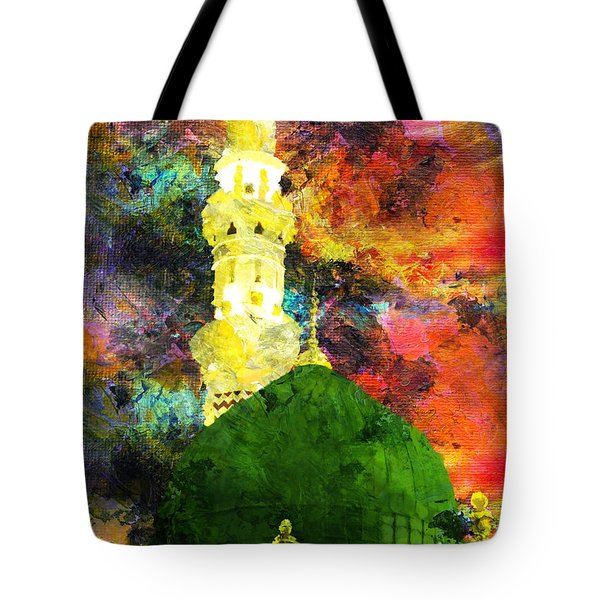 Islamic Painting 007 Tote Bag by Catf