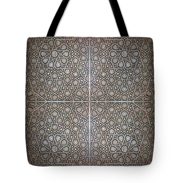 Islamic Wooden Texture Tote Bag