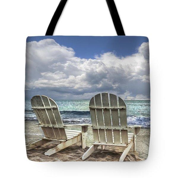 Island Attitude Tote Bag by Debra and Dave Vanderlaan