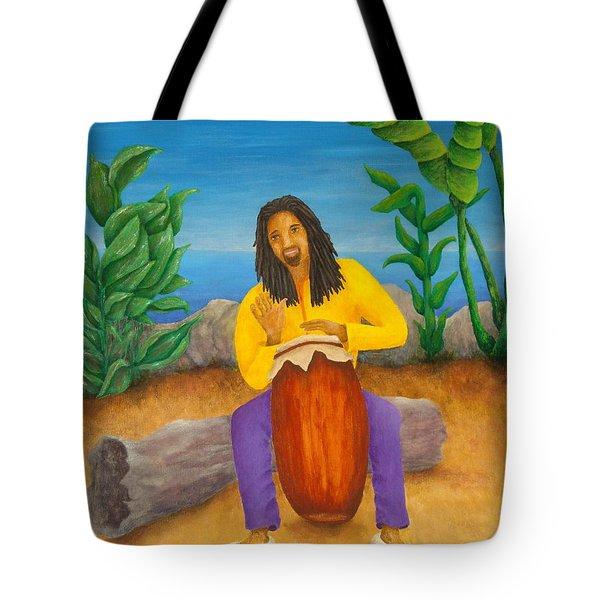 Island Beat Tote Bag by Pamela Allegretto