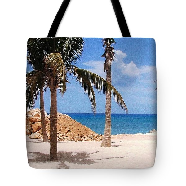 Tote Bag featuring the photograph Island Breeze by Judy Palkimas