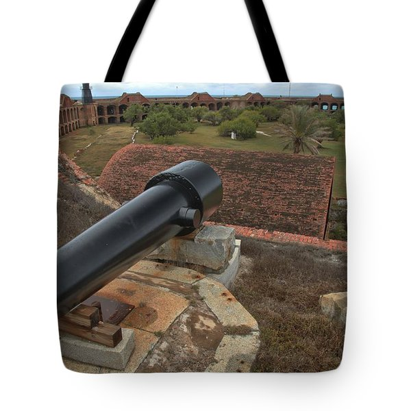Island Defense Tote Bag by Adam Jewell