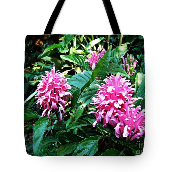 Tote Bag featuring the photograph Island Flower by Leanne Seymour