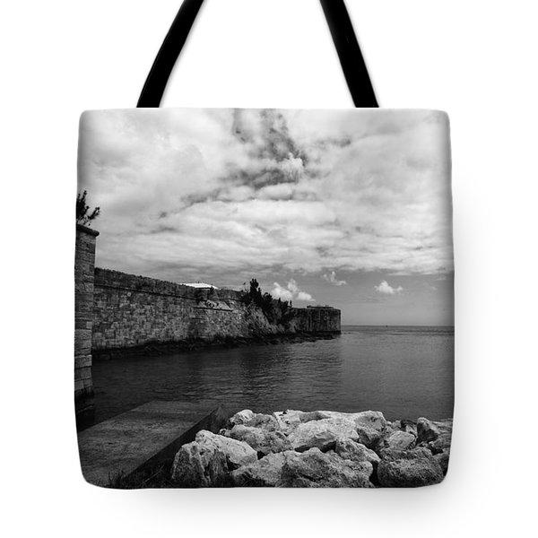 Island Fortress  Tote Bag