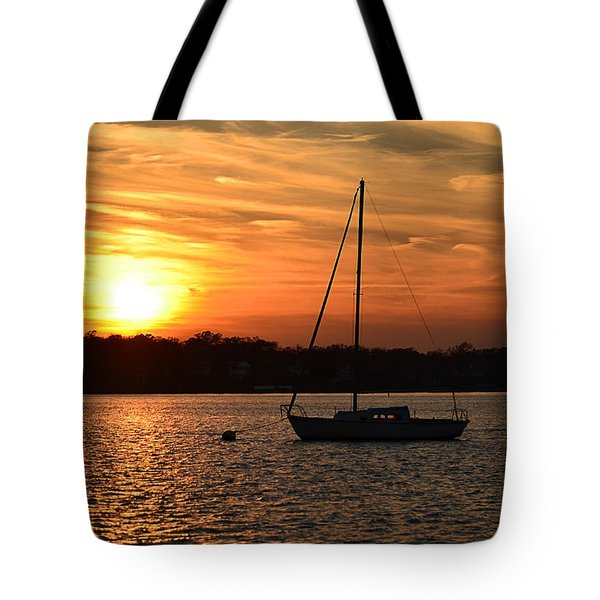 Island Heights Sunset Tote Bag