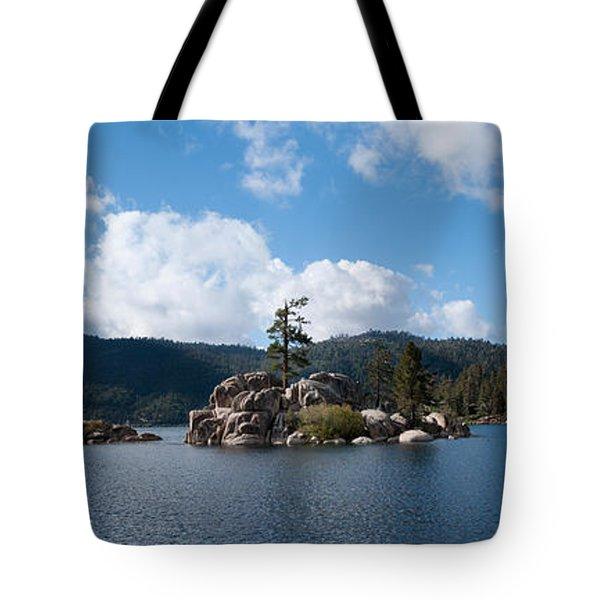 Island In A Lake, Big Bear Lake, San Tote Bag