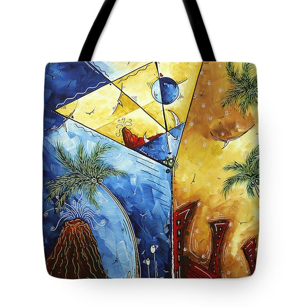 Island Martini  Original Madart Painting Tote Bag by Megan Duncanson