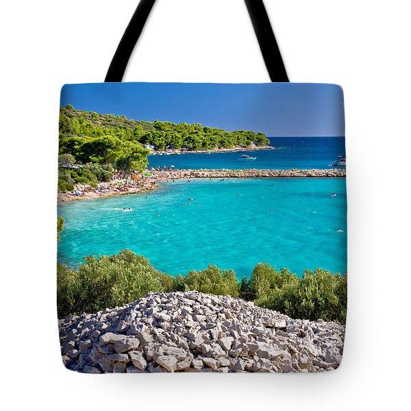 Island Murter Turquoise Lagoon Beach Tote Bag
