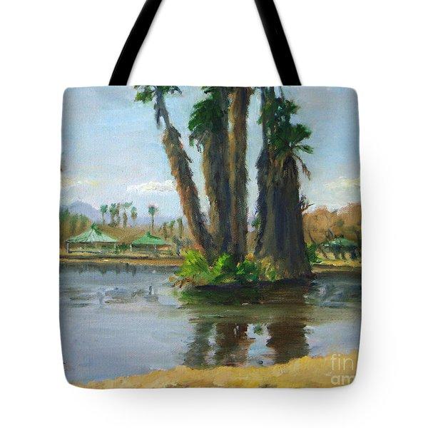 Island Of Palm Trees Tote Bag