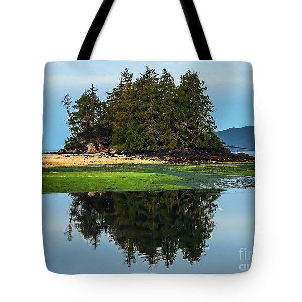 Island Reflection Tote Bag by Robert Bales