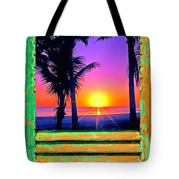 Island Shutter Tote Bag