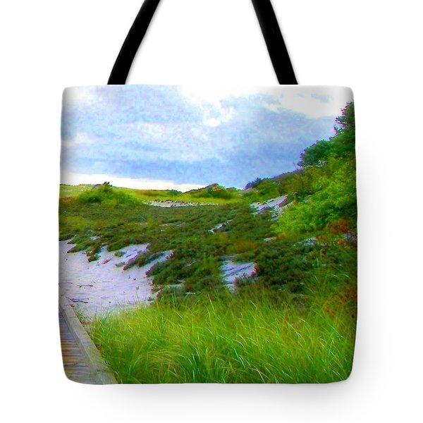 Island State Park Boardwalk Tote Bag
