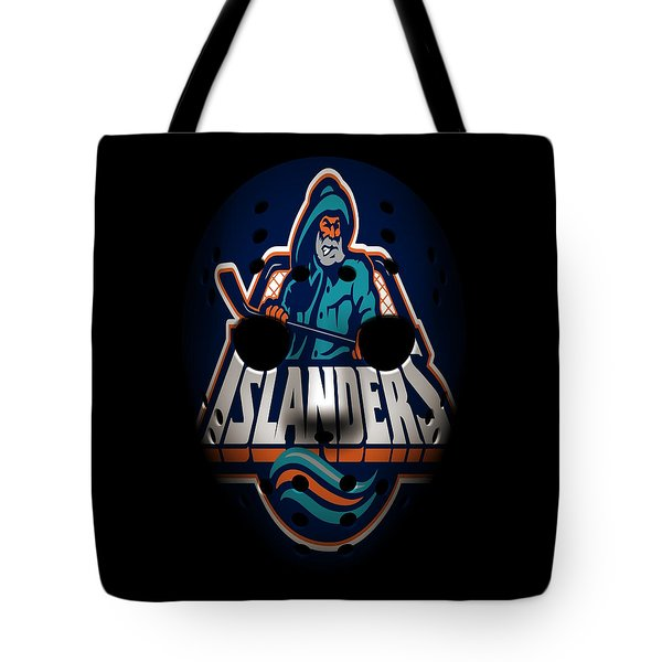 Islanders Goalie Mask Tote Bag