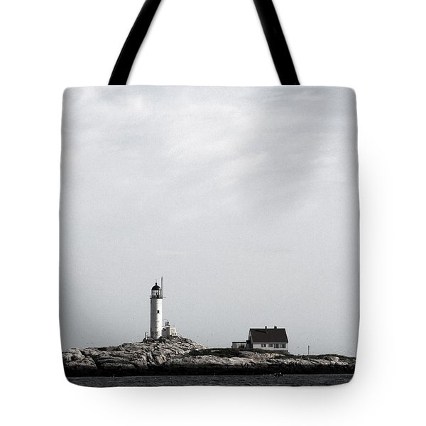 Isles Of Shoals Lighthouse Tote Bag by Brett Pelletier