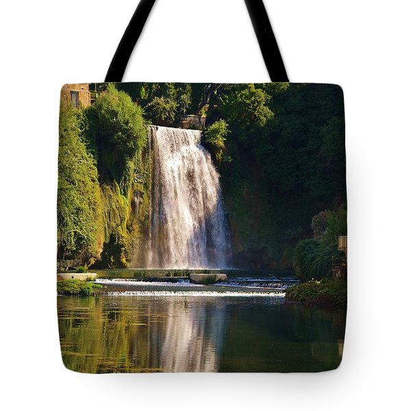 Isola Del Liri Falls Tote Bag by Dany Lison