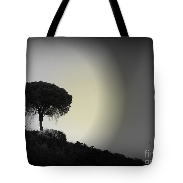 Tote Bag featuring the photograph Isolation Tree by Clare Bevan