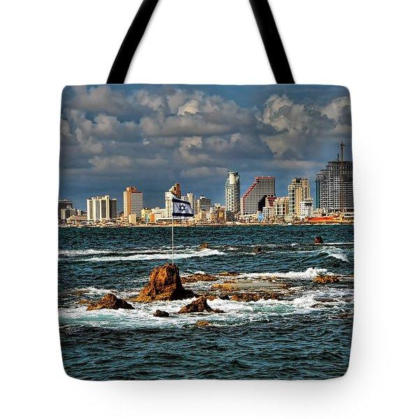 Israel Full Power Tote Bag by Ron Shoshani