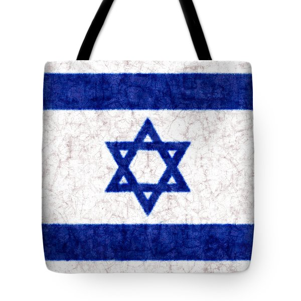 Israel Star Of David Flag Batik Tote Bag by Kurt Van Wagner
