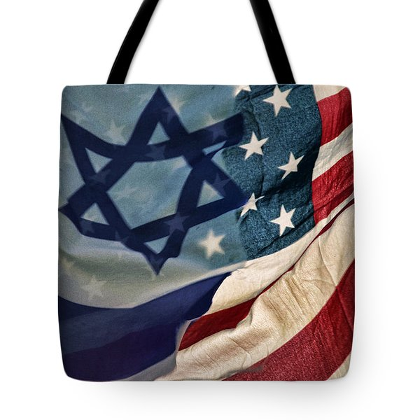 Israeli American Flags Tote Bag