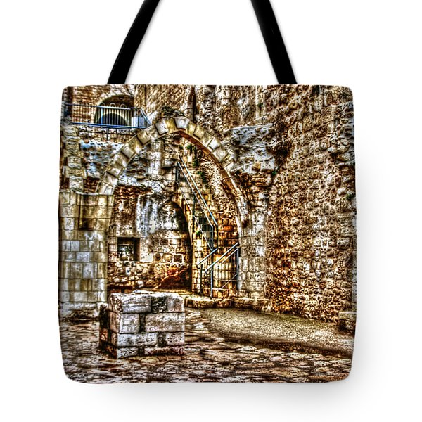 Tote Bag featuring the photograph Israels Ruins by Doc Braham