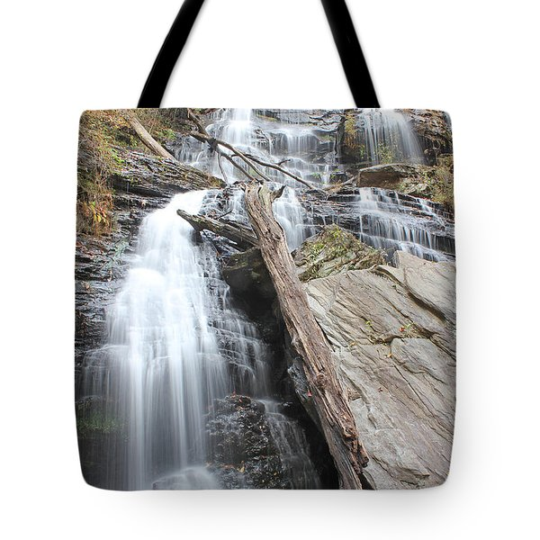 Tote Bag featuring the photograph Issaqueena Falls by Joseph C Hinson Photography