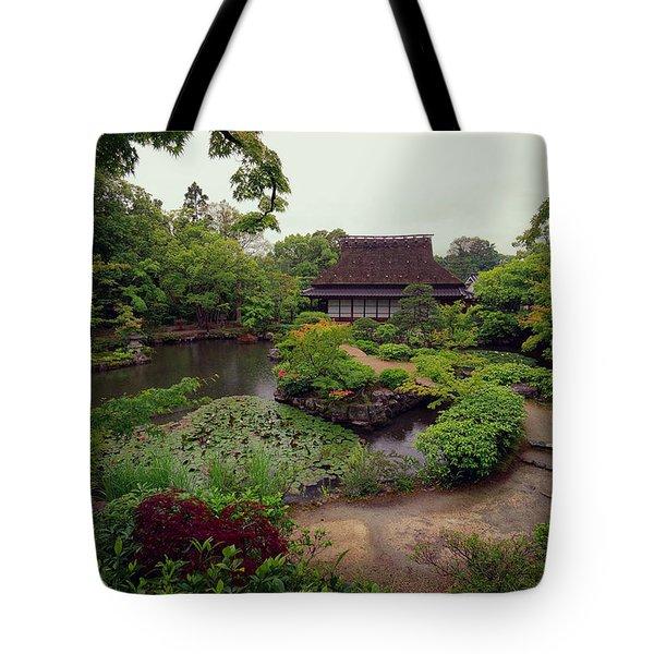 Isuien Garden Tea House - Nara Japan Tote Bag