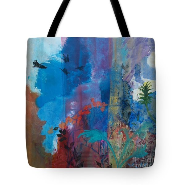 Tote Bag featuring the painting It Ain't A Fable Baby by Robin Maria Pedrero