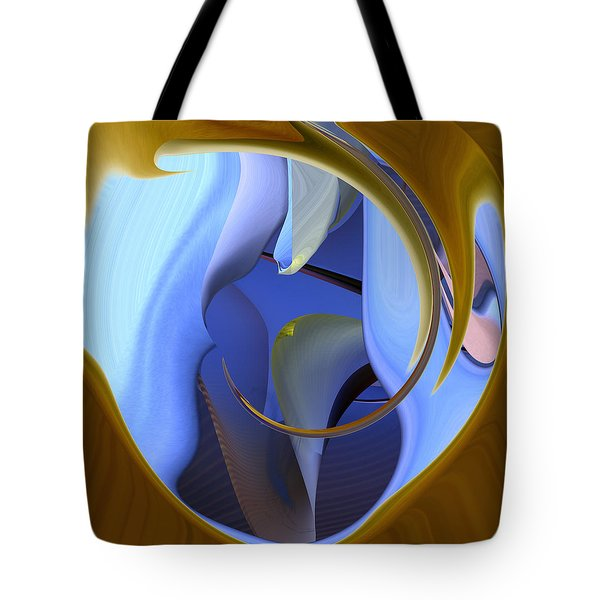 It Is Blue Inside Tote Bag