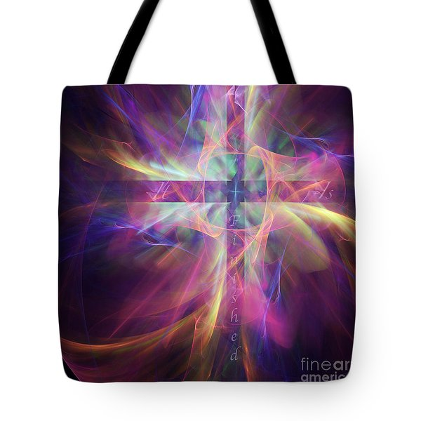 Tote Bag featuring the digital art It Is Finished by Margie Chapman