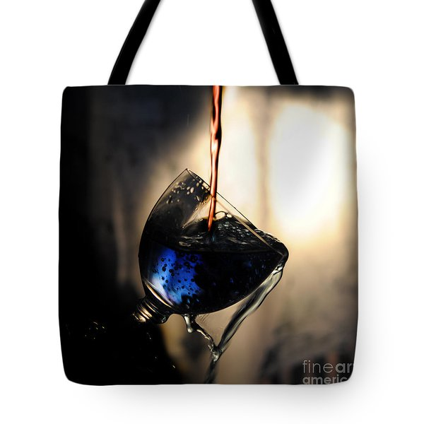 It Is Red And Blue Tote Bag by Randi Grace Nilsberg