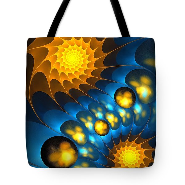 Tote Bag featuring the digital art It Is Time by Anastasiya Malakhova