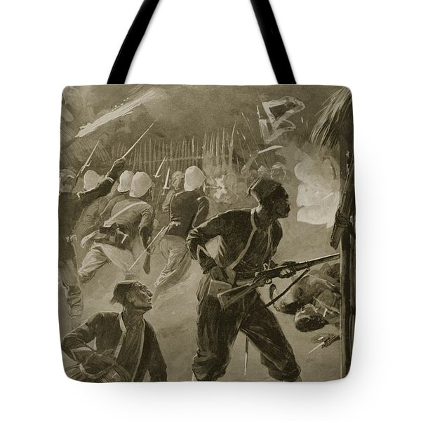 It Was A Night Attack, And The Foe Tote Bag