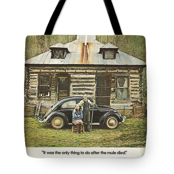 It Was The Only Thing To Do After The Mule Died Tote Bag by Georgia Fowler
