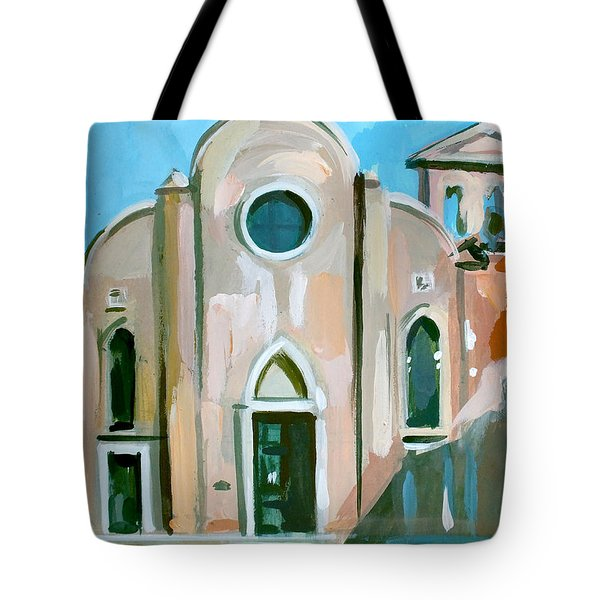 Italian Church Tote Bag by Filip Mihail