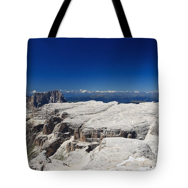 Tote Bag featuring the photograph Italian Dolomites - Sella Group by Antonio Scarpi