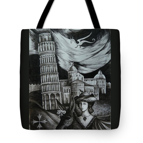 Italian Fantasies. Pisa Tote Bag by Anna  Duyunova