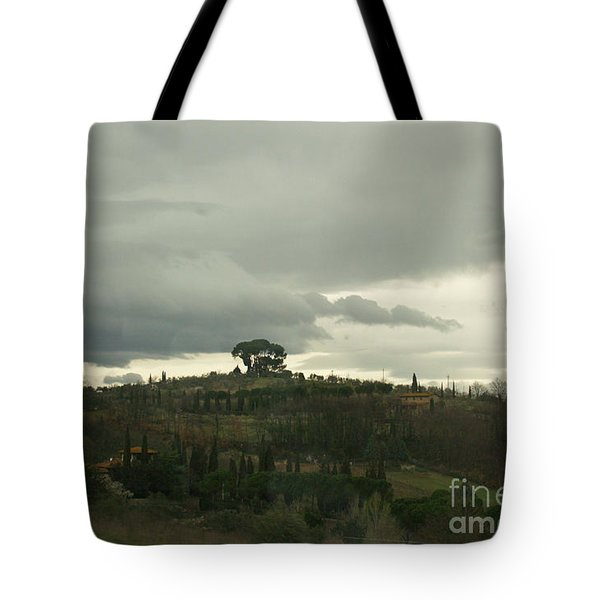 Tote Bag featuring the photograph Italian Hillside by Robin Maria Pedrero