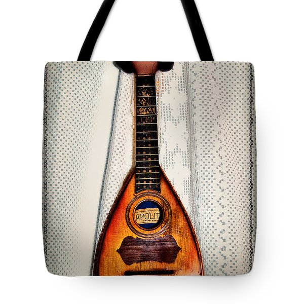 Italian Mandolin Tote Bag by Bill Cannon