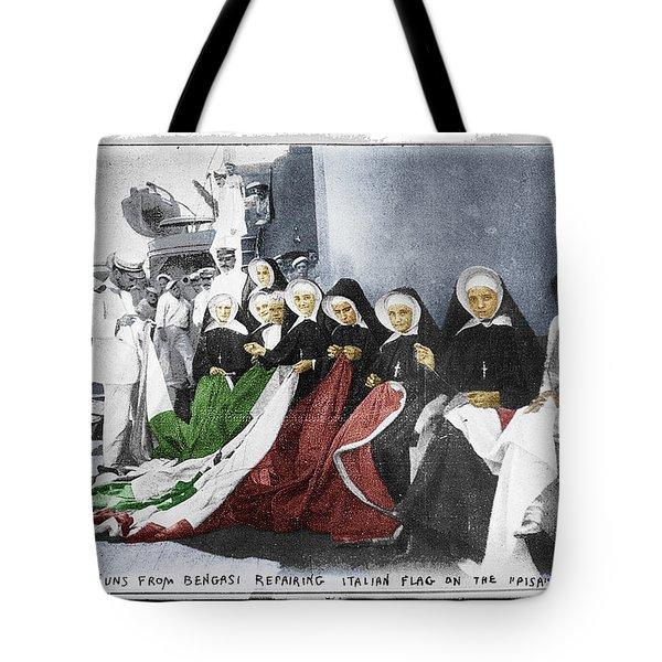 Italian Nuns Tote Bag by Tony Rubino