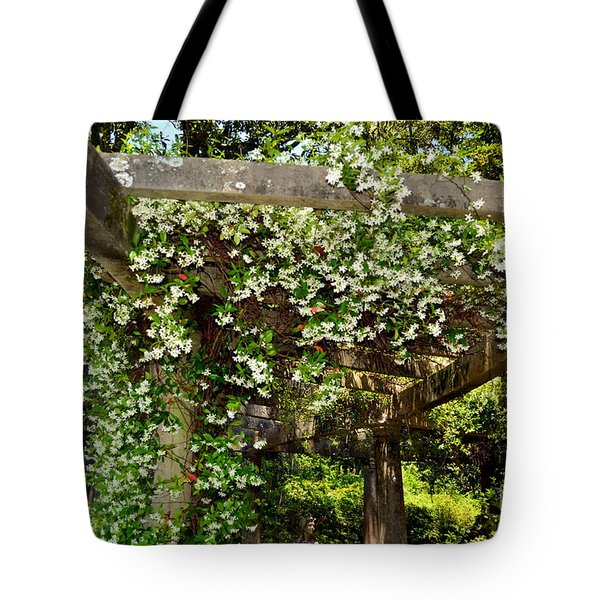 Italian Pergola Flowers  Tote Bag